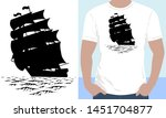Vector. Silhouette Of A Three...