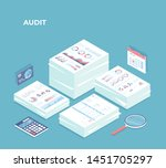 auditing  analysis  accounting  ... | Shutterstock .eps vector #1451705297