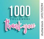1000 followers thank you  ...   Shutterstock .eps vector #1451720294