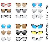 sunglasses set vector   Shutterstock .eps vector #145172251