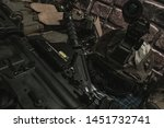 military equipman and weapons...   Shutterstock . vector #1451732741