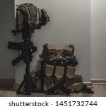 military equipman and weapons...   Shutterstock . vector #1451732744