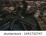 military equipman and weapons...   Shutterstock . vector #1451732747