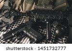 military equipman and weapons...   Shutterstock . vector #1451732777