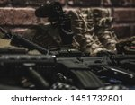 military equipman and weapons...   Shutterstock . vector #1451732801