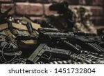 military equipman and weapons...   Shutterstock . vector #1451732804