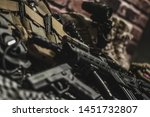 military equipman and weapons...   Shutterstock . vector #1451732807