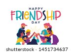 happy friendship day greeting... | Shutterstock .eps vector #1451734637