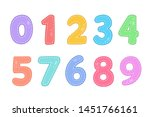 cute funny numbers vector... | Shutterstock .eps vector #1451766161