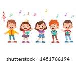 cartoon group of children... | Shutterstock .eps vector #1451766194
