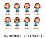 kid child expression vector... | Shutterstock .eps vector #1451766941