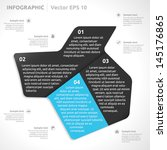 infographic template   color  ... | Shutterstock .eps vector #145176865