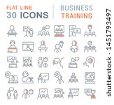 set of vector line icons of... | Shutterstock .eps vector #1451793497