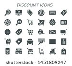 discount icon set. 30 filled... | Shutterstock .eps vector #1451809247