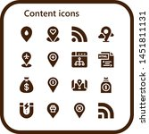 content icon set. 16 filled...