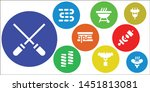 roasted icon set. 9 filled... | Shutterstock .eps vector #1451813081