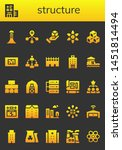 structure icon set. 26 filled... | Shutterstock .eps vector #1451814494