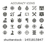 accuracy icon set. 30 filled... | Shutterstock .eps vector #1451815847