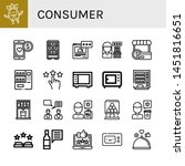 set of consumer icons such as... | Shutterstock .eps vector #1451816651