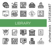 set of library icons such as... | Shutterstock .eps vector #1451816687