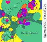 floral background | Shutterstock .eps vector #145181764