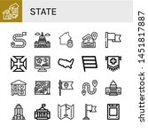 set of state icons such as home ...   Shutterstock .eps vector #1451817887