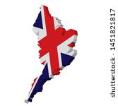 3d england map national flag...   Shutterstock .eps vector #1451821817