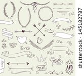 wedding graphic set  arrows ... | Shutterstock .eps vector #145182787