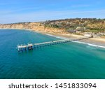 aerial view of the scripps pier ... | Shutterstock . vector #1451833094