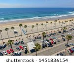 aerial view of parking lot with ... | Shutterstock . vector #1451836154