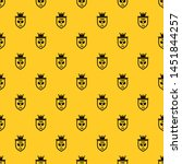 Coat of arms of tennis club pattern seamless vector repeat geometric yellow for any design