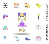 cartoon baby girl toy colored...