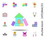 cartoon home toy colored icon....