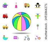 cartoon beach ball toy colored...