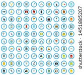 100 mobile application icons...
