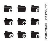 folder  archive  file ... | Shutterstock .eps vector #1451900744