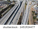 aerial view of the 105 freeway... | Shutterstock . vector #1451924477