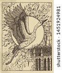 stork. mystic concept for... | Shutterstock .eps vector #1451924981