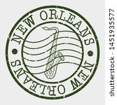 new orleans stamp. jazz music... | Shutterstock .eps vector #1451935577
