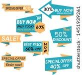 sale tags vector illustration... | Shutterstock .eps vector #1451939261