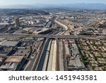 aerial view of the los angeles... | Shutterstock . vector #1451943581