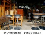 used high chairs and tables.... | Shutterstock . vector #1451945684