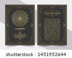 luxury vintage golden vector... | Shutterstock .eps vector #1451952644