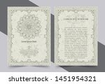 antique gold greeting card with ... | Shutterstock .eps vector #1451954321