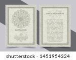 antique gold greeting card with ... | Shutterstock .eps vector #1451954324