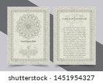antique gold greeting card with ... | Shutterstock .eps vector #1451954327