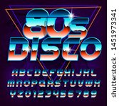 80s disco alphabet font....   Shutterstock .eps vector #1451973341