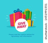 giveaway poster for social... | Shutterstock .eps vector #1451991551