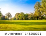green field and trees. summer... | Shutterstock . vector #145200331