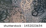 abstract geometric random... | Shutterstock . vector #1452023654
